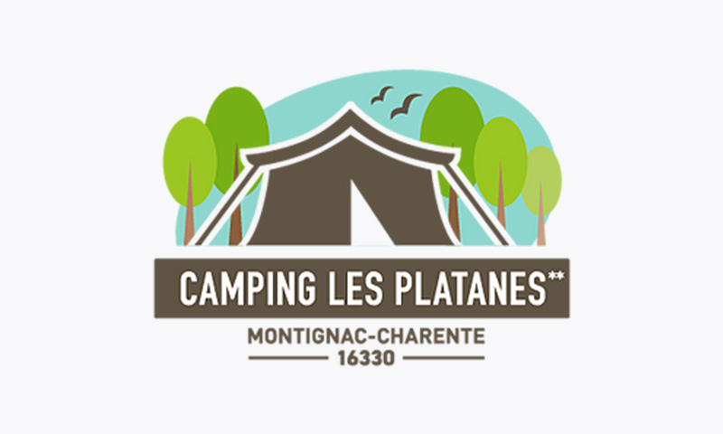 Montignac-Charente-camping-les-platanes-logo